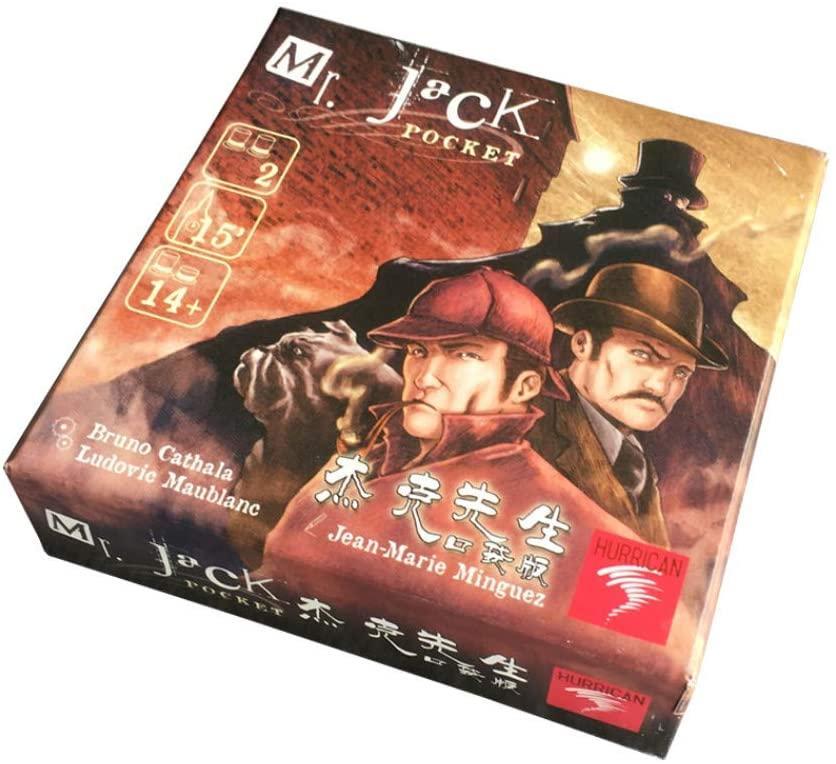 Petite boîte Mr Jack Pocket Board Version Cartes jeu Envoyer Anglais Instructions