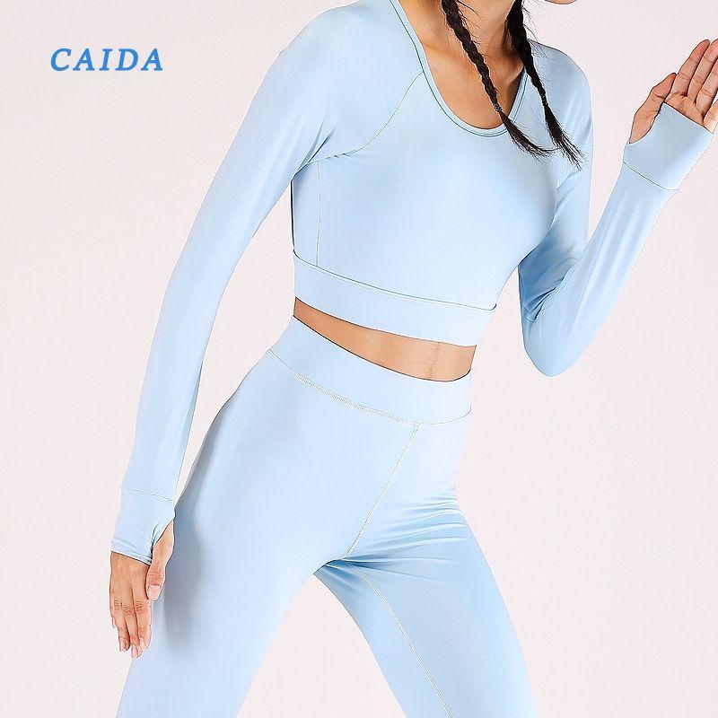 CAIDA женские топы и брюки комплект из двух частей спортивный костюм элегантный топ и брюки комплект 2020 женские повседневные спортивные костюмы фитнес костюмы