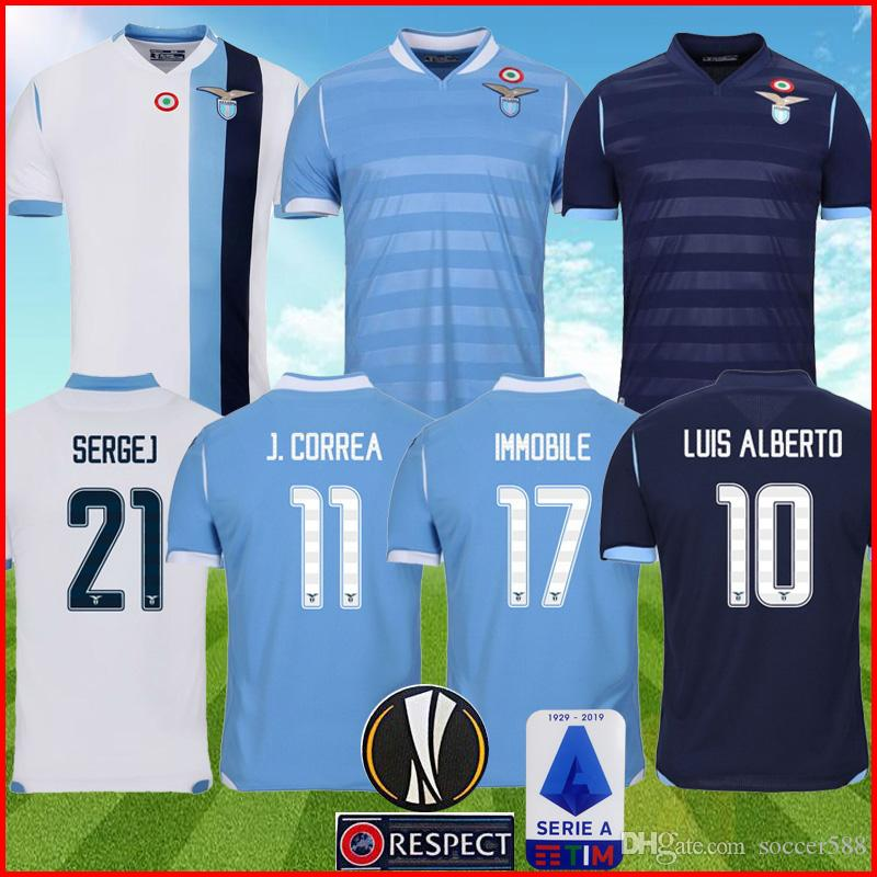 New 2019-2020 SS Lazio Home //away soccer Jersey Short Sleeve Man Tshirt S-XXL