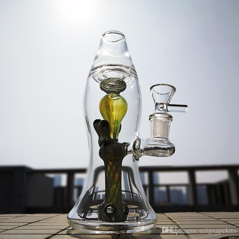 2020 Unique Bong Lava Lamp Bottel Shape Oil Dab Rig 14mm