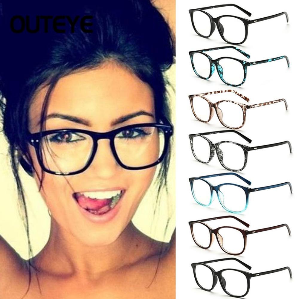 Mulheres Transparente Computer Óculos Limpar Óculos Moda Falso Optical Eye Glasses Frames Miopia vidro Eyewear dos espetáculos