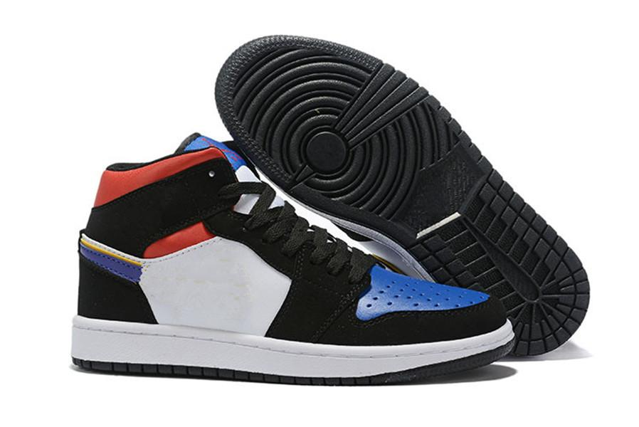 Zapatos de alta calidad Jumpman 1 Blanco rojo del baloncesto 1s clásicos de la venta caliente al aire libre de los zapatos corrientes con la caja tamaño EU40-45