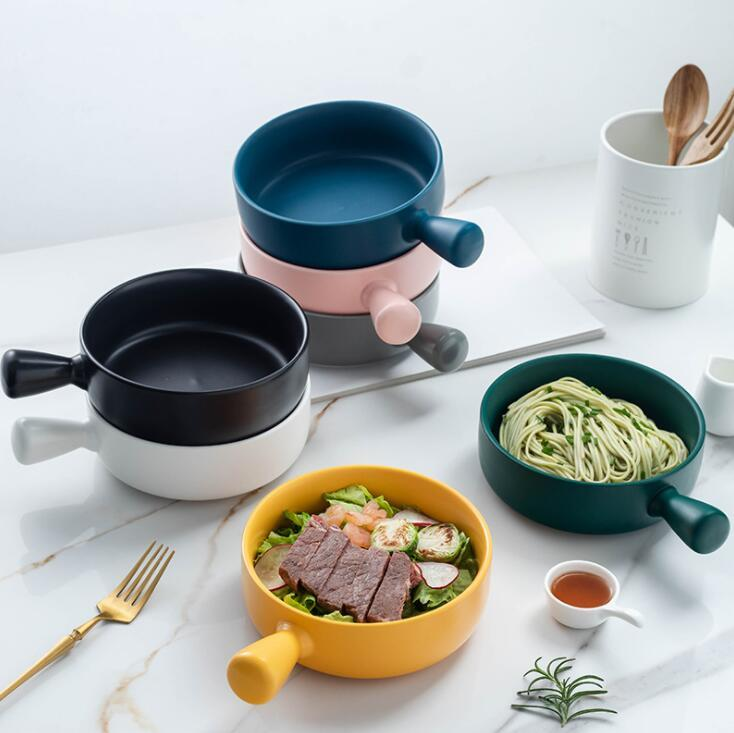 السيراميك واحدة خبز جولة التعامل مع الخبز أطباق لوحات معكرونة المنزلية فرن ميكروويف ملاعق جبن طاجن الأرز أطباق اللحوم YP422