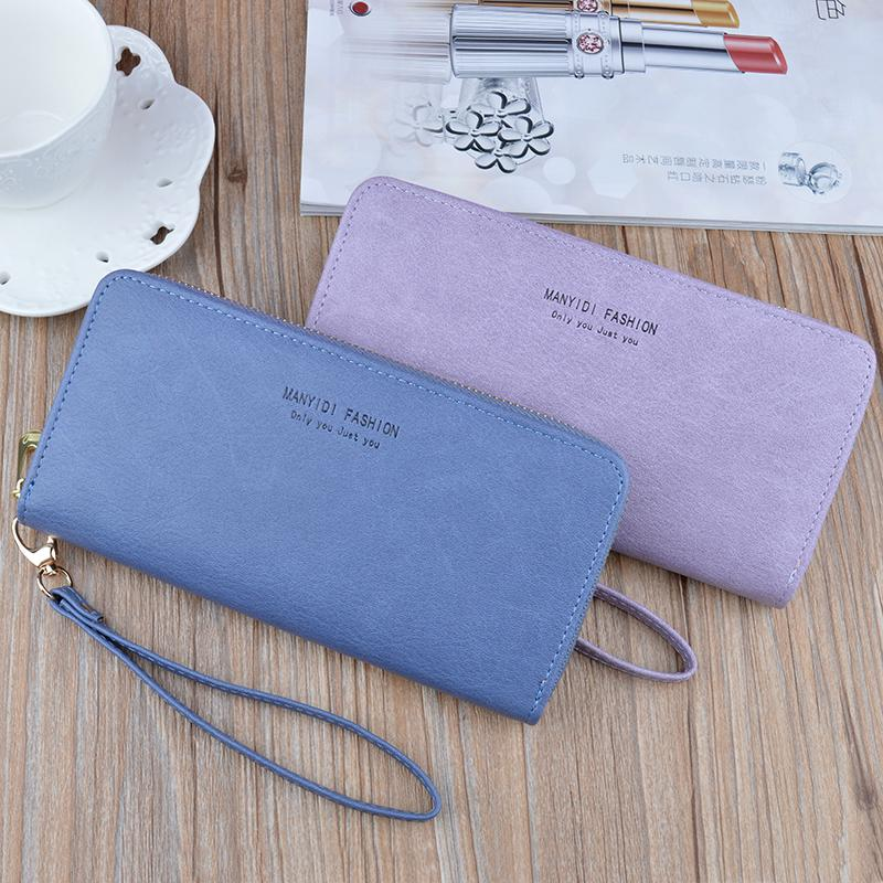 Designer Carteira Lady Longo Zipper Clutch Grande Capacidade Carteira Simples Retro Mommy macia Mobile Wallet Bag 38