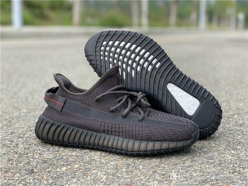 Hot Sale Triple Black Venom Man Designer Athletic Shoes Lightweight All Black Kanye West Woman Fashion Trainers Best Quality With Box