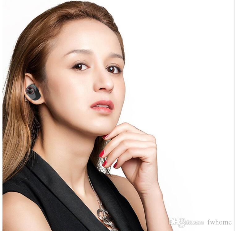 V5 TWS Earphone Bluetooth 5.0 Wireless Headphone Stereo Built-in Microphone Hands-free Calling Mini Earbuds Bluetooth Headset