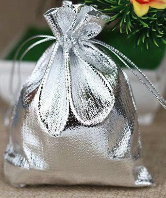 Серебряная позолоченная марлевая атласная сумка для ювелирных изделий, рождественский подарок, сумки для рисования, сумка для рисования
