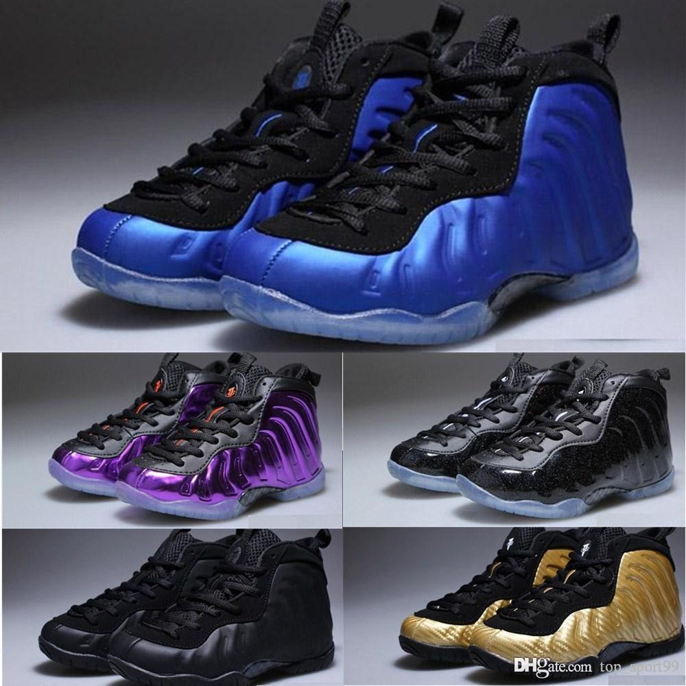 Unisex Kids Penny Hardaway Foam One Basketball Shoes Boys Purple Sports Girls Sneakers for Child Children Athletic Teenage