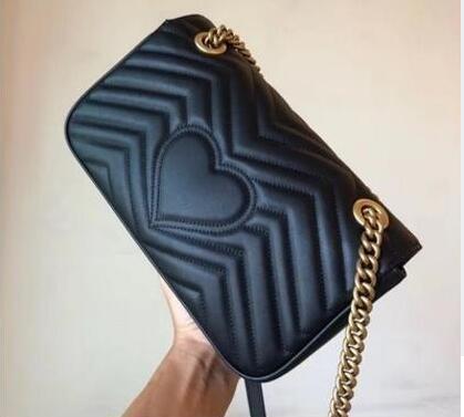أزياء حقائب الكتف Marmont النساء الفاخرة سلسلة حقيبة crossbody حقائب مصمم الشهيرة محفظة عالية الجودة أنثى حقيبة رسالة سلسلة ذهبية
