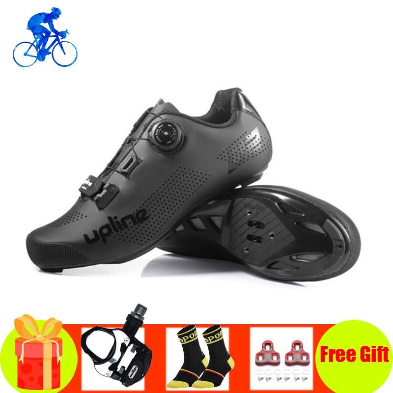 الطريق أحذية ركوب الدراجات الرجال sapatilha أحذية رياضية ciclismo النساء دراجة تنفس الذاتي قفل SPD-SL الدواسات ركوب الطريق الدراجة أحذية