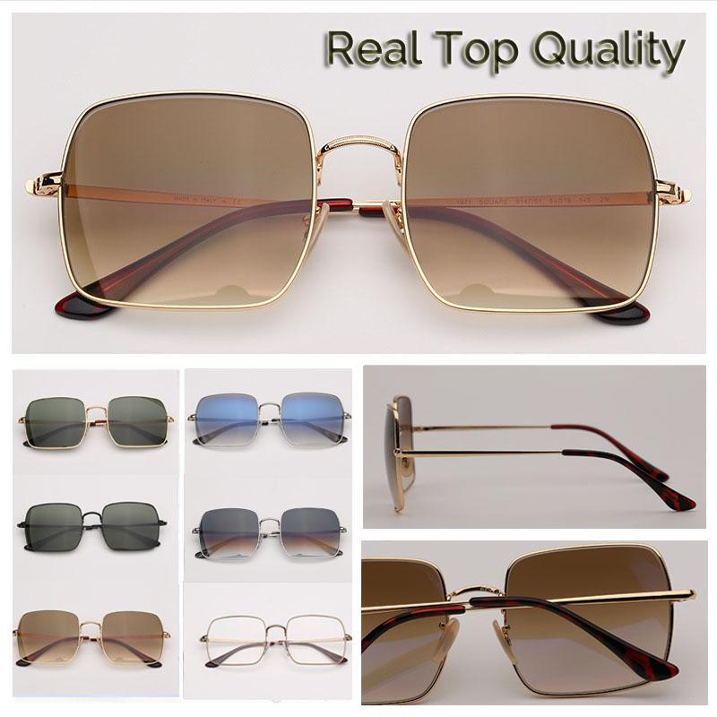 أزياء النظارات الشمسية النظارات الشمسية عالية الجودة نظارات الشمس مربع لرجل من الرجال والنساء إمرأة UV400 lentes قصر هلالية دي سولي من أجل البشر