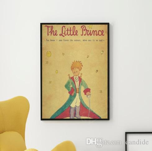 Little Prince to the Adults Of Fairy Tales France Classical Retro Kraft Poster Wall Sticker Poster Home Decor Gift