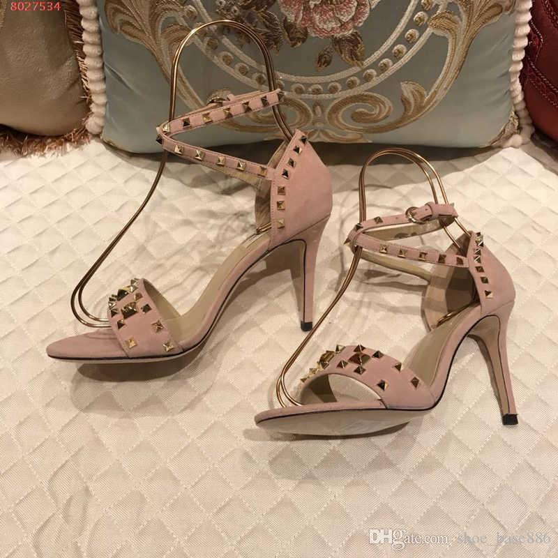 Hot Sale-fashion women spike high heels Heel diamond lip trim shoes taste fashion pink and black summer sandals classic style