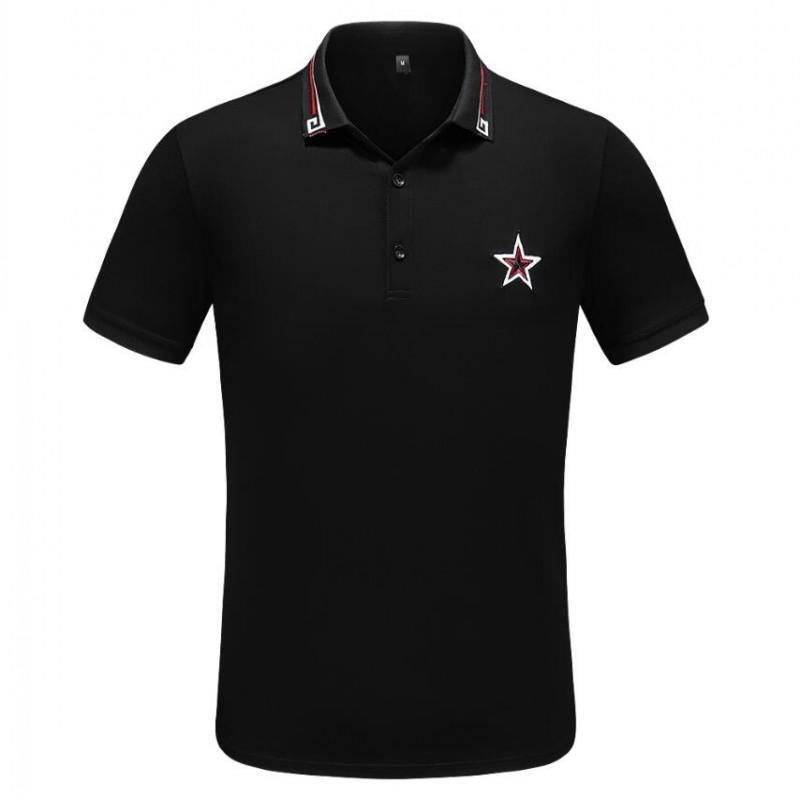 il progettista del mens camicia di polo di marca di stampa Top magliette per l'Italia Moda uomo polo tag cotone High street Top magliette