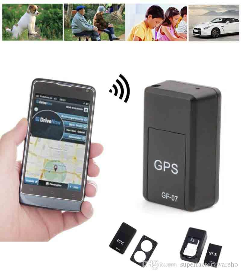 GF-07 Mini GPS Tracker Vehicle Strong Magnetic Free Installation GPS Tracking