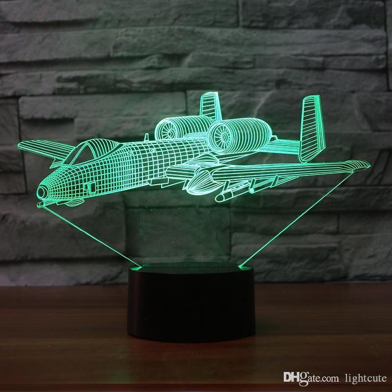 3D Визуальный Led Night Light Беговые Воин Usb Спальня прикроватные 7 цветов Soldier Настольная лампа Decor сна Освещение Детские подарки