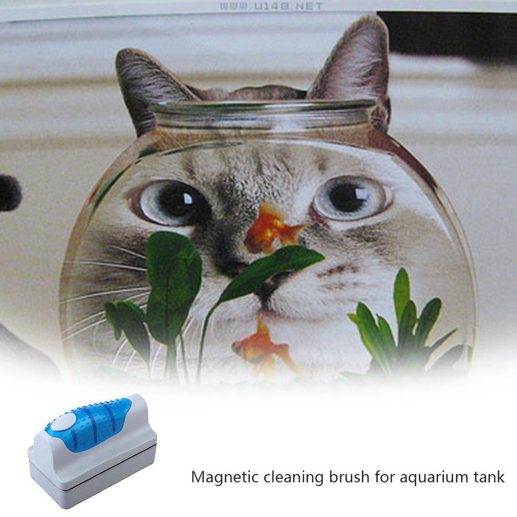 Mini-algues Scraper nettoyage de vitres Courbe flottant aquarium magnétique brosse Aimants Cleaner brosse poissons d'aquarium en verre réservoir