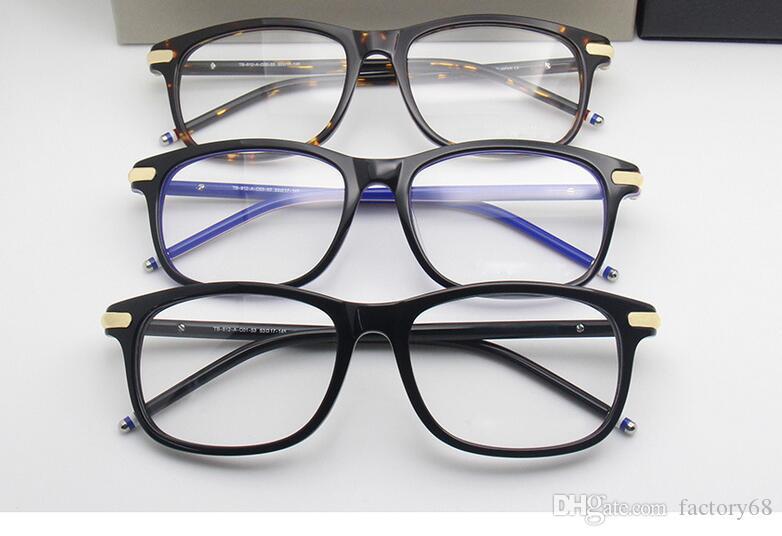 2019 NUEVA YORK TB-812 montura de las gafas tablón marco de los vidrios que restaura maneras antiguas Gafas de Grau hombres y mujeres miopía gafas marcos TB8