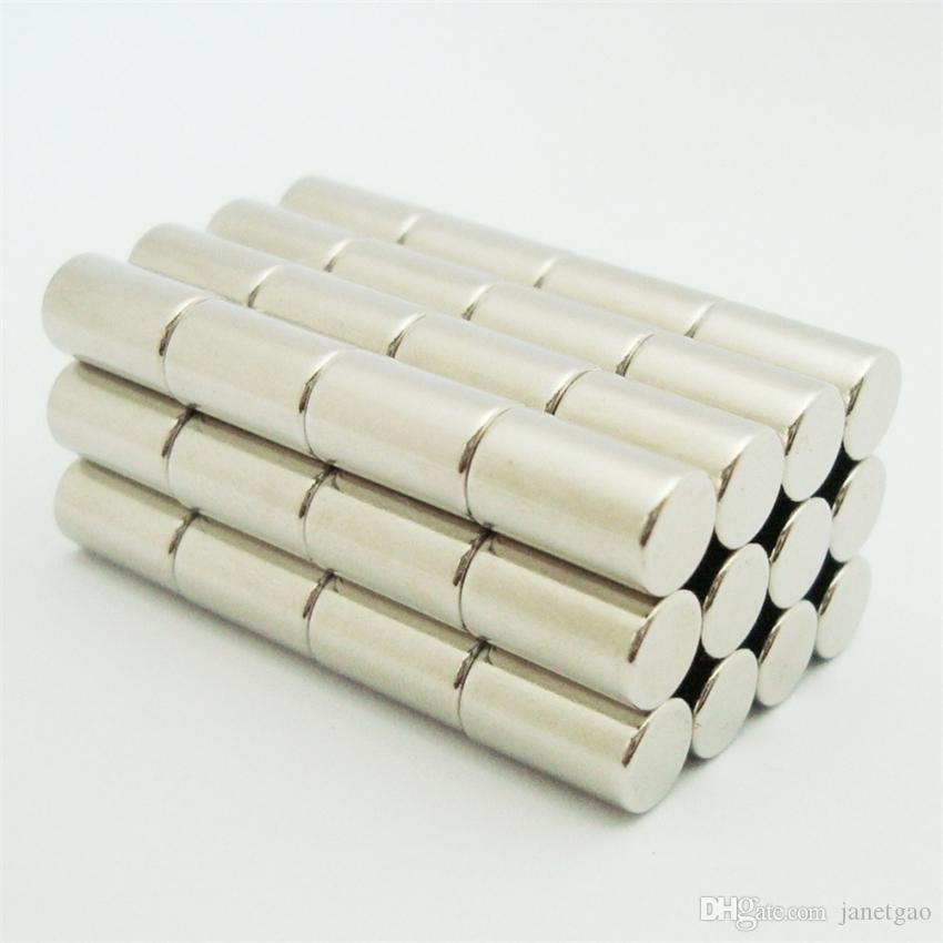50pcs dia6x10mm la barra redonda del imán de neodimio N52 estrenar varilla de imán permanente fuerte (50pcs / pack) Dia6x10mm, envío libre
