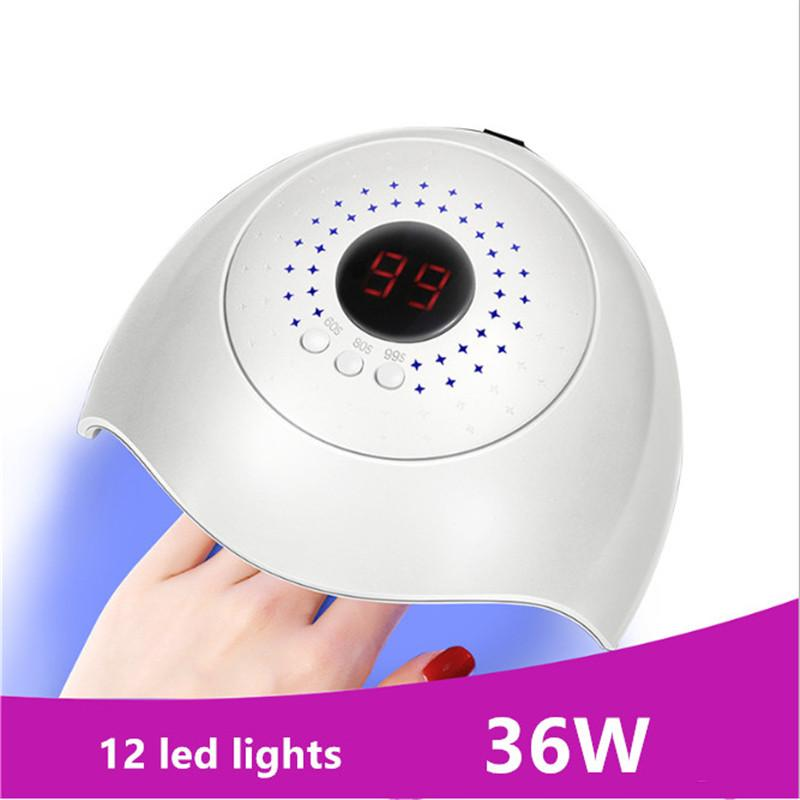 36W UV Lamp Nail Dryer Gel Nail Lamp Fast Curing Gel Polish Ice for Manicure Machine light therapy machine USB