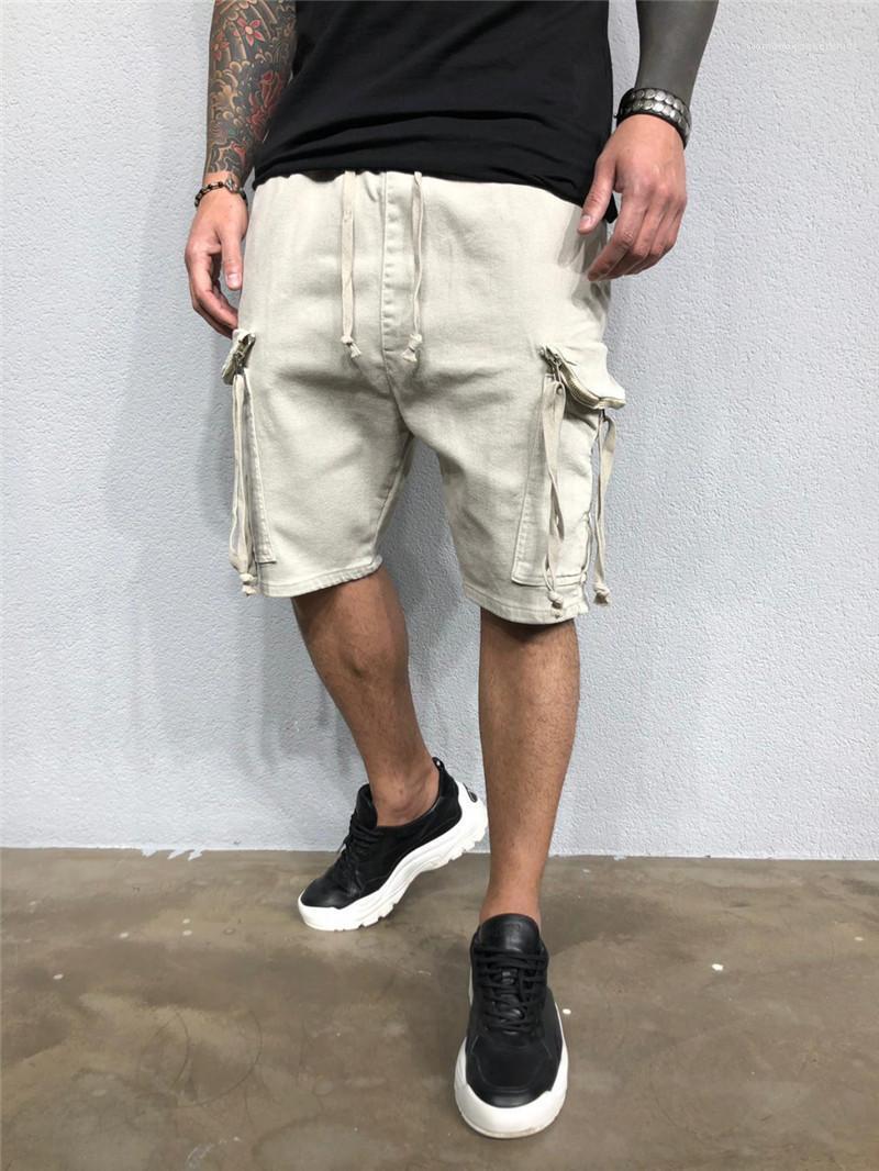 Abbigliamento Uomo Estate Designer pantaloni corti con Pocket Adolescente allentato Mid coulisse Tuta Abbigliamento Fashion Casuale
