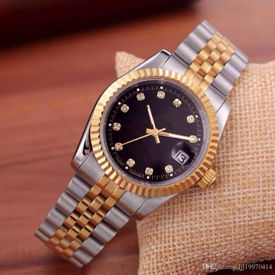 2020 relogio 럭셔리 남성 브랜드 남성 시계 큰 다이아몬드 데이 날짜 브랜드 스테인레스 스틸 영구 대통령 자동 다이아몬드 손목 시계