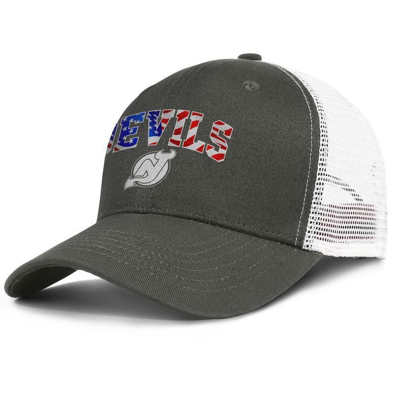 Luxury Mesh Trucker cap Men Women-New Jersey Devils usa flag designer hat snapback Adjustable Sun hat Outdoor