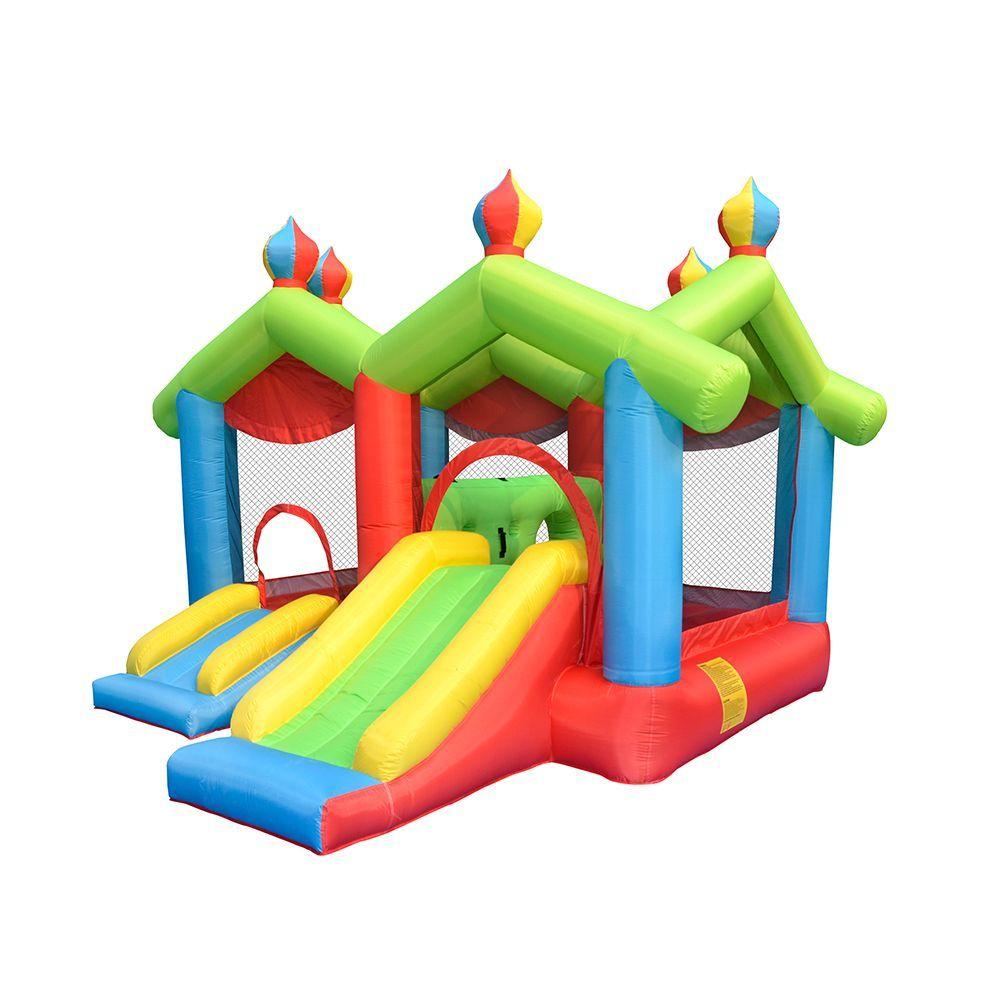 التجاري نفخ الحراس للأطفال الصغار مزدوجة منازل مع الشرائح نفخ مضحك مدينة القلعة للطفل الحديقة الخلفية العبي كذاب