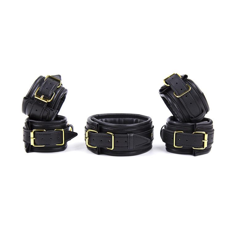 Sexy Adjustable PU Leather Slave Fetish BDSM Adult Bondage Hancuff Ankle Cuff Restraints Sex Toys For Couple Exotic Accessories