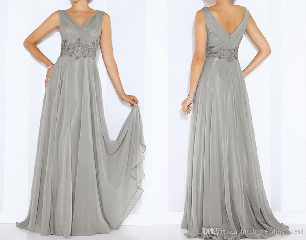 High-Quality Sexy V Collar Evening Dresses Color Halter Chiffon Hand Beaded Dresses A-Line Dance Party Gowns DH1531