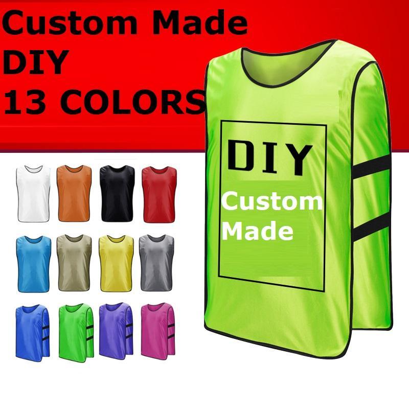 Customized maniche uomini di calcio della formazione Jersey Sports Football Against del panciotto della maglia Raggruppamento pullover camicia di fai da te DK2023ZQ