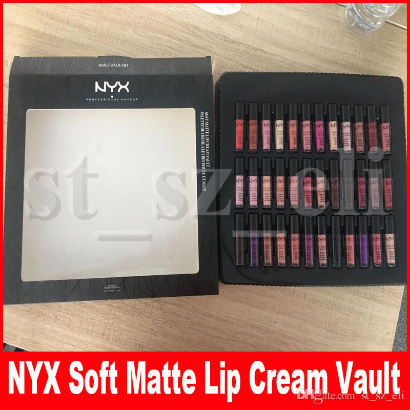 NYX SOFT MATTE LIP CREAM 36PCS Liquid Lipstick Lip Gloss Matte No Fading Soft Velvet Lip Makeup 36 colors set