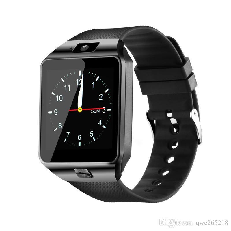 DZ09 똑똑한 시계 손목 밴드 시계 안드로이드 시계 똑똑한 지적인 휴대 전화 소매 상자 GT08 U8 A1를 가진 잠 국가