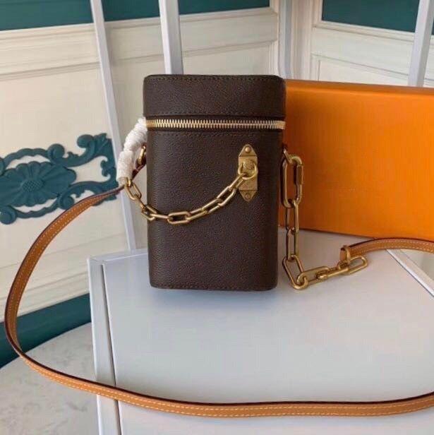 New Mini phone box Kette Geldbeutel satche klassische Kupplung Box-Handtaschen für Frauen-Abend-Beutel-Leder-Handtasche Cross Body Messenger Schultertasche