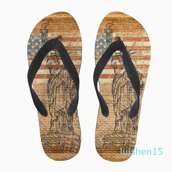 Customized Summer Style Women Flip Flops 3D Eiffel Tower Printed Fashion Women's Home Slippers Woman Flats Slip-on Shoes l15
