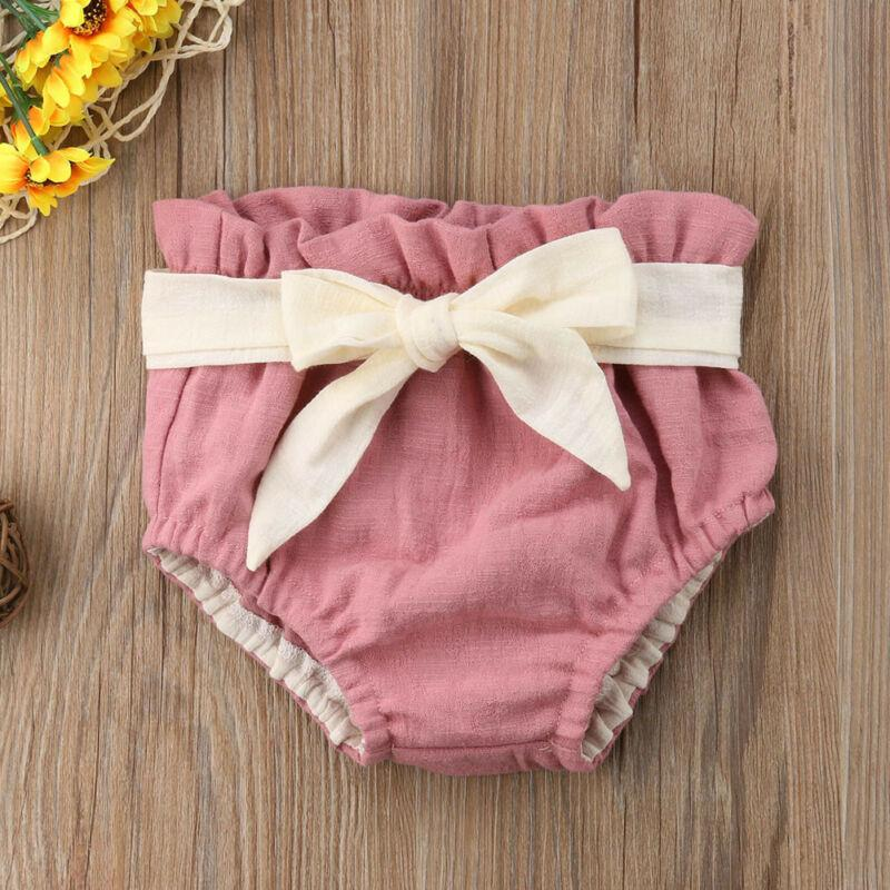 Baby toddler kids clothes girls  short pants linen diaper cover shorts cool