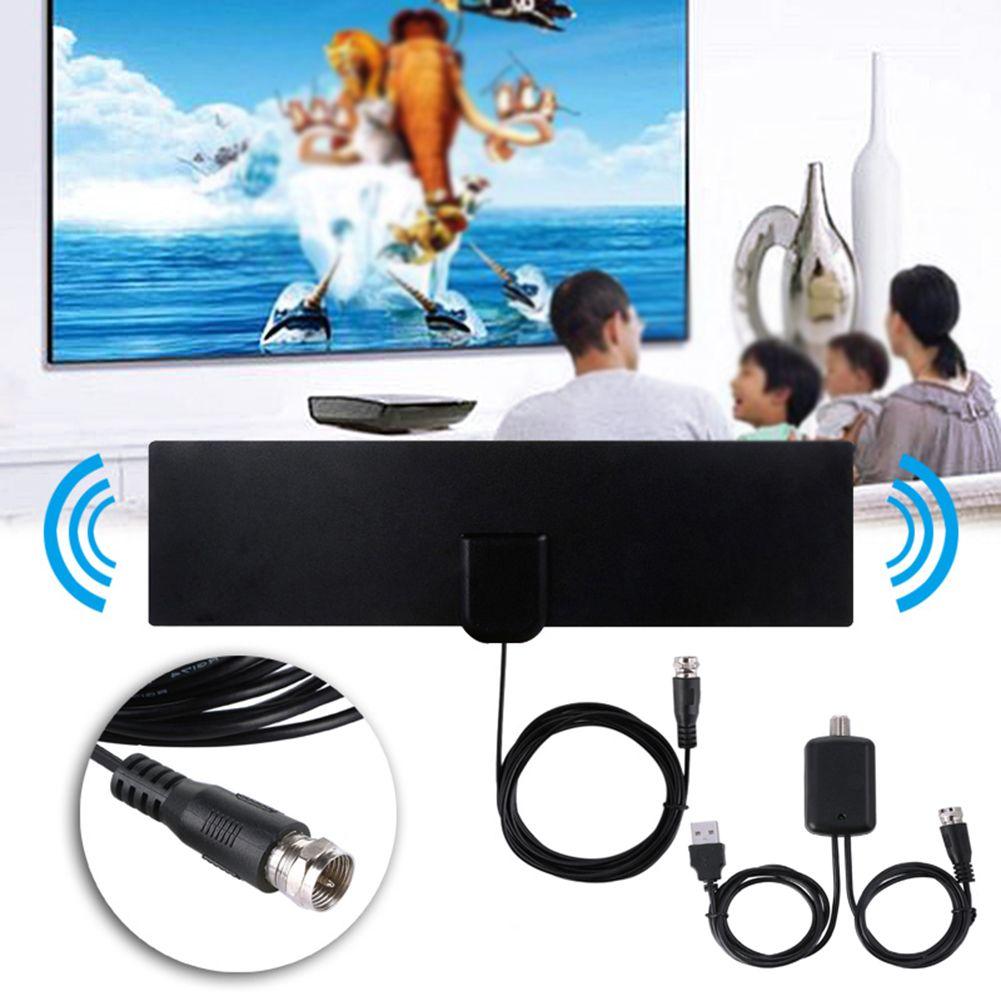 80 Millas Digital Antena de TV HD para interiores con amplificador de señal Radio TV Surf Fox Antenas Freeview Antena DVB-T2