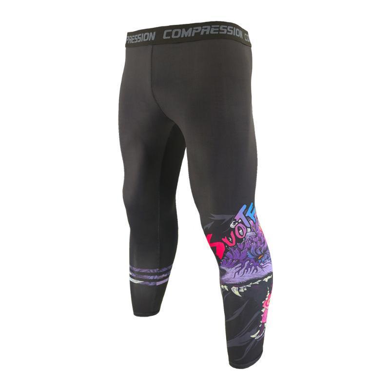 تشغيل السراويل suotf هدير التنين الرجال مضطوانات ضيقة طماق الرياضة الجوارب رياضة اللياقة البدنية تجريب رياضية الركض السراويل