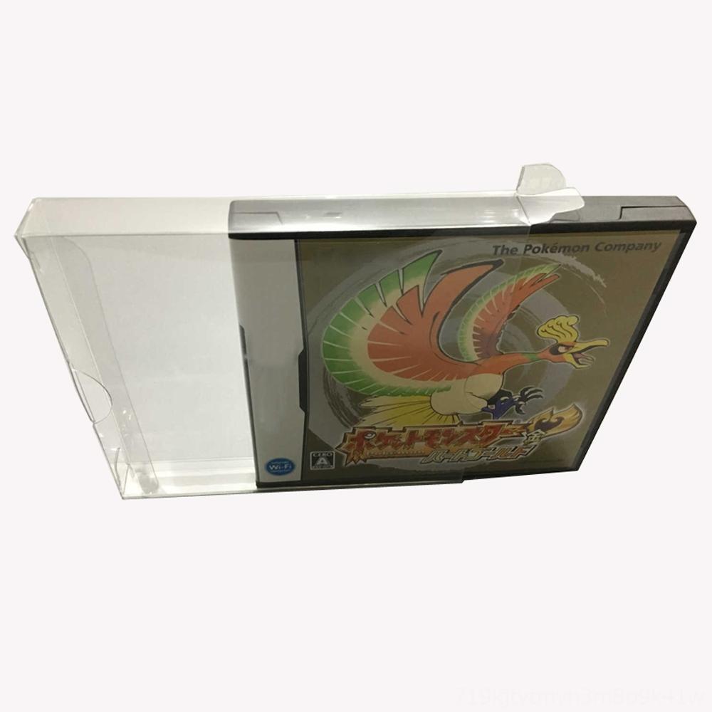 JPUS Sürüm Şeffaf Şeffaf için NDS Kutuları, Kapaklar Çantalar Oyun Aksesuarları oyun kartı renk kutusu plastik PET Koruyucu toplama depolama pr