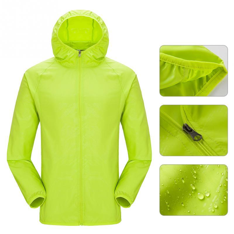 Men Women Cycling Waterproof Windproof Jacket Lightweight Hooded Rain Coats