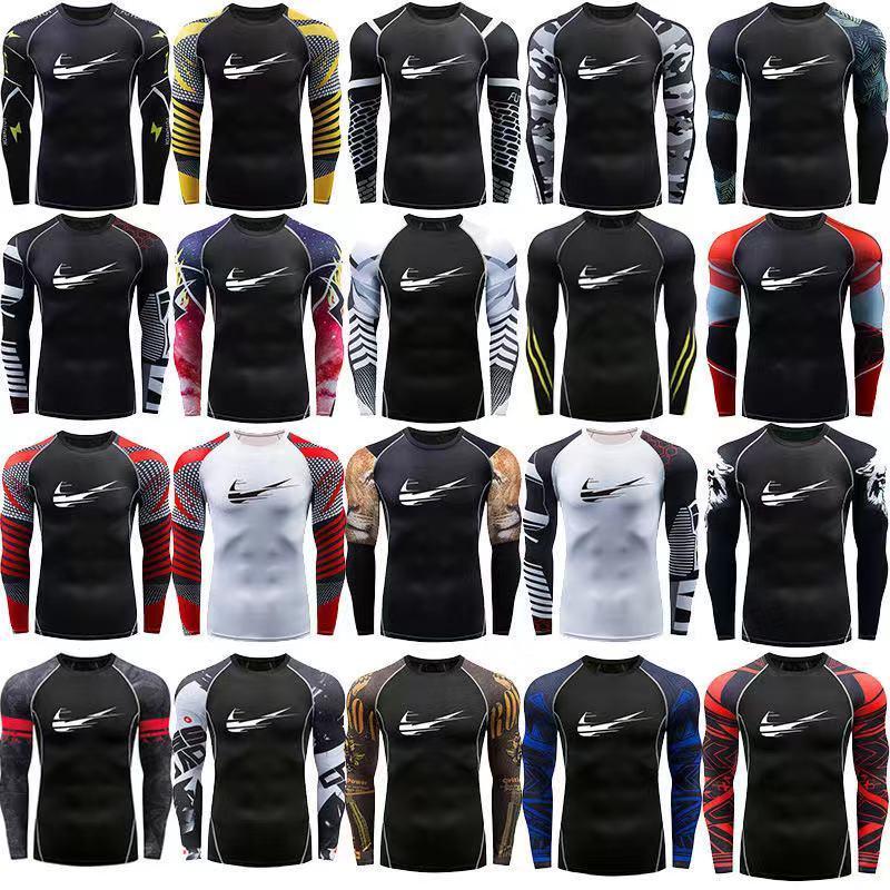 Nueva secado rápido camisa de deporte Hombre corriente camisa de la aptitud camiseta apretada erupción gard Baloncesto Jersey de deporte Demix compresión de gimnasia