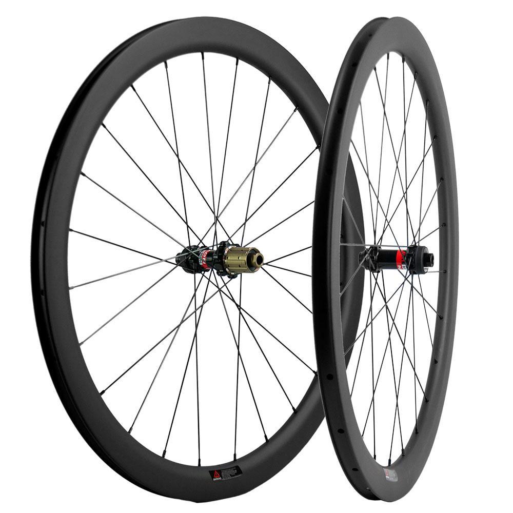 700C قرص الفرامل الكربون العجلات الفاصلة 45mm وعمق العرض 25mm الكربون عجلات الطريق دراجة UD ماتي Novatec محور سنتر لوك