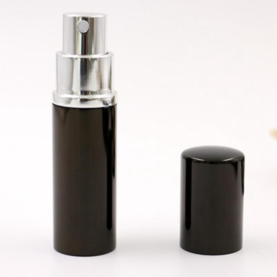 10ML Mini botella de aerosol portátil Botella de perfume vacía Perfume recargable negro Atomizador Spray Accesorios de viaje RRA1829
