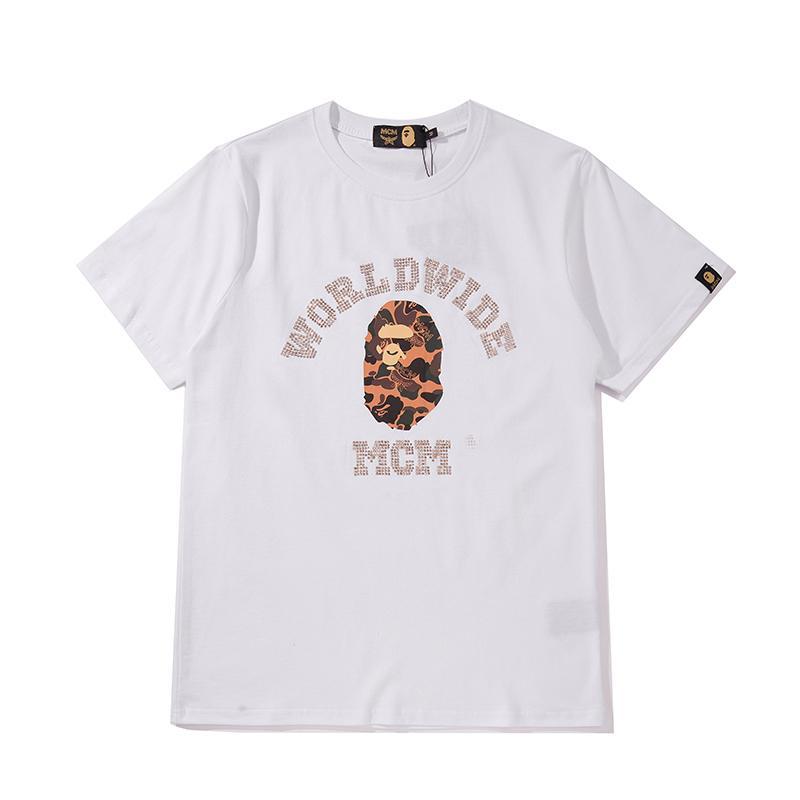 Fashion Brand Design Männer Frauen Shirts Straße Marke T-Shirt Mens-Sommer-T-Shirts Fashion Tees Hiphop mit kurzen Ärmeln freies Verschiffen a1 B105511L
