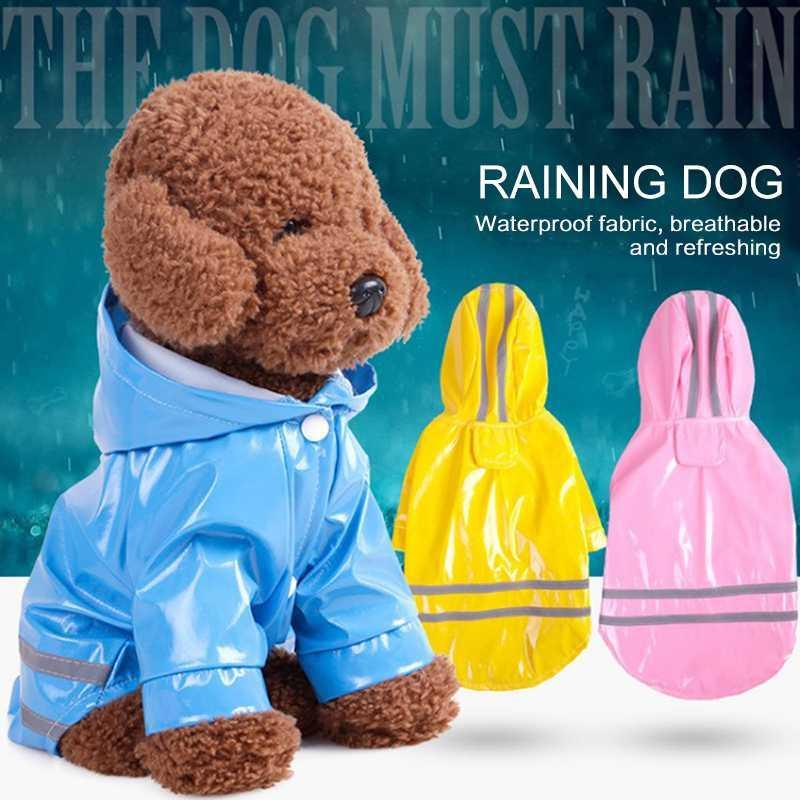 En plein air Puppy Pet pluie manteau à capuchon S-XL imperméable coupe-vent Vestes PU Raincoat pour Chiens Chats Vêtements Vêtements pour animaux Fournitures