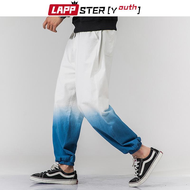 LAPPSTER-Jugend Männer koreanischer Gradient Jogger Hosen 2020 Mens Harajuku Street Hip Hop Jogginghose knöchellangen Trainingshose 5XL