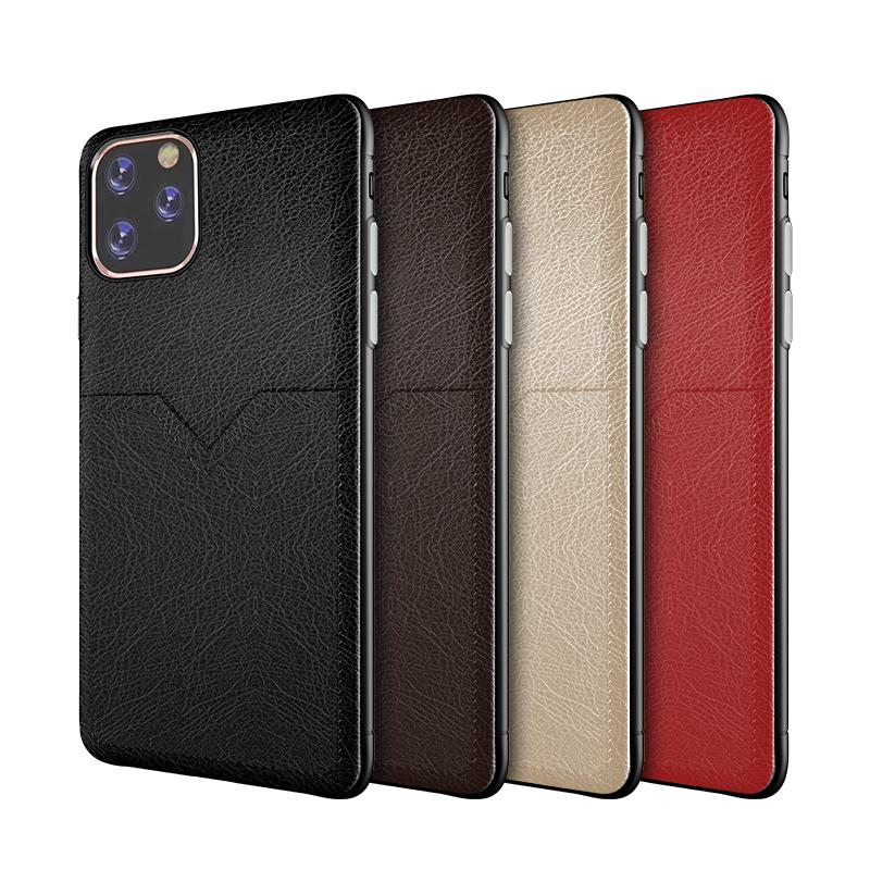 Leder-Telefonkasten für iphone 11 pro XR XS MAX X 6S 7 8 zuzüglich Kreditkartenfächer Tasche für Samsung Galaxy S8 S9 S10 plus dünne Abdeckung neue Luxus
