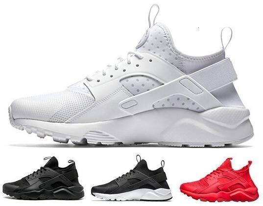 2019 huarache 4 Hommes Femmes Chaussures Tous Blanc Noir Huraches Zapatos Ultra Breathe huaraches entraîneurs des hommes Hurache Chaussures de sport