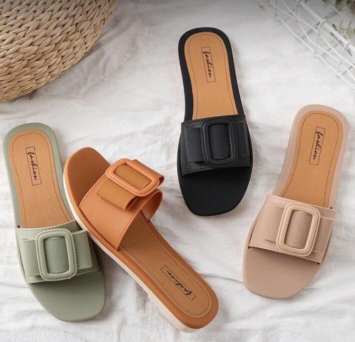 Z84,08, sandali selvatici e ciabatte, scarpe da donna, estate, usura esterna, moda, bottoni, antiscivolo, spiaggia, pianeggiante, pantofole.
