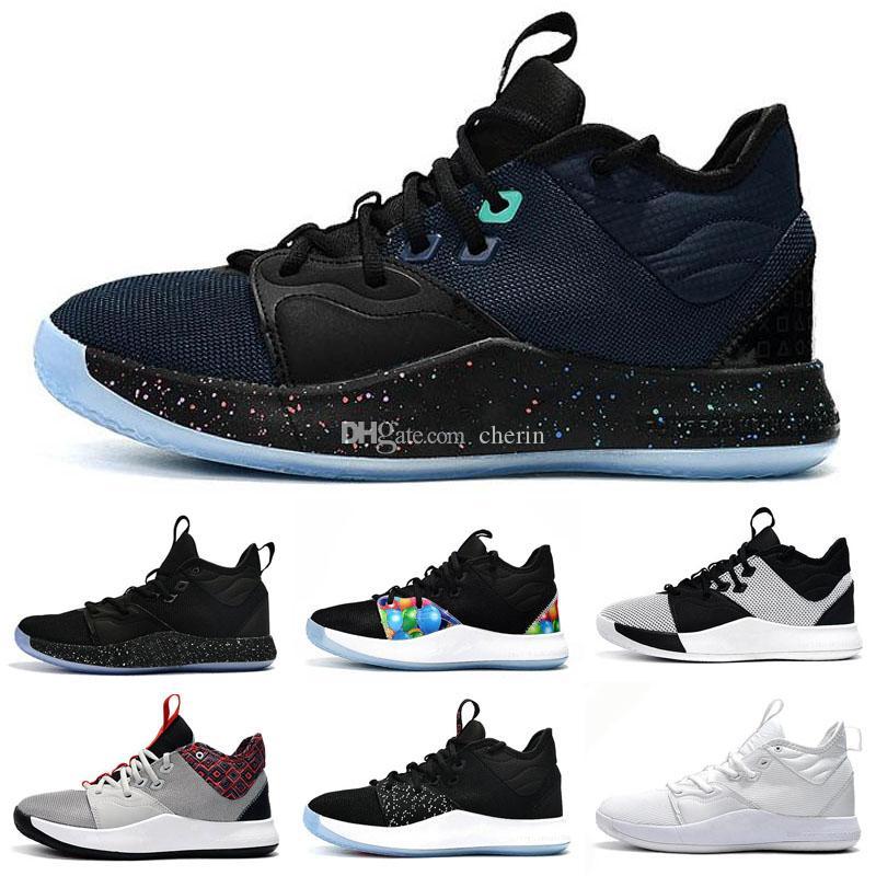 2019 Yeni Paul George PG 3 3 S Palmdale III P.George Basketbol Ayakkabı Ucuz PG3 Yıldızlı Mavi Turuncu Kırmızı Siyah Spor Sneakers Boyutu 40-46